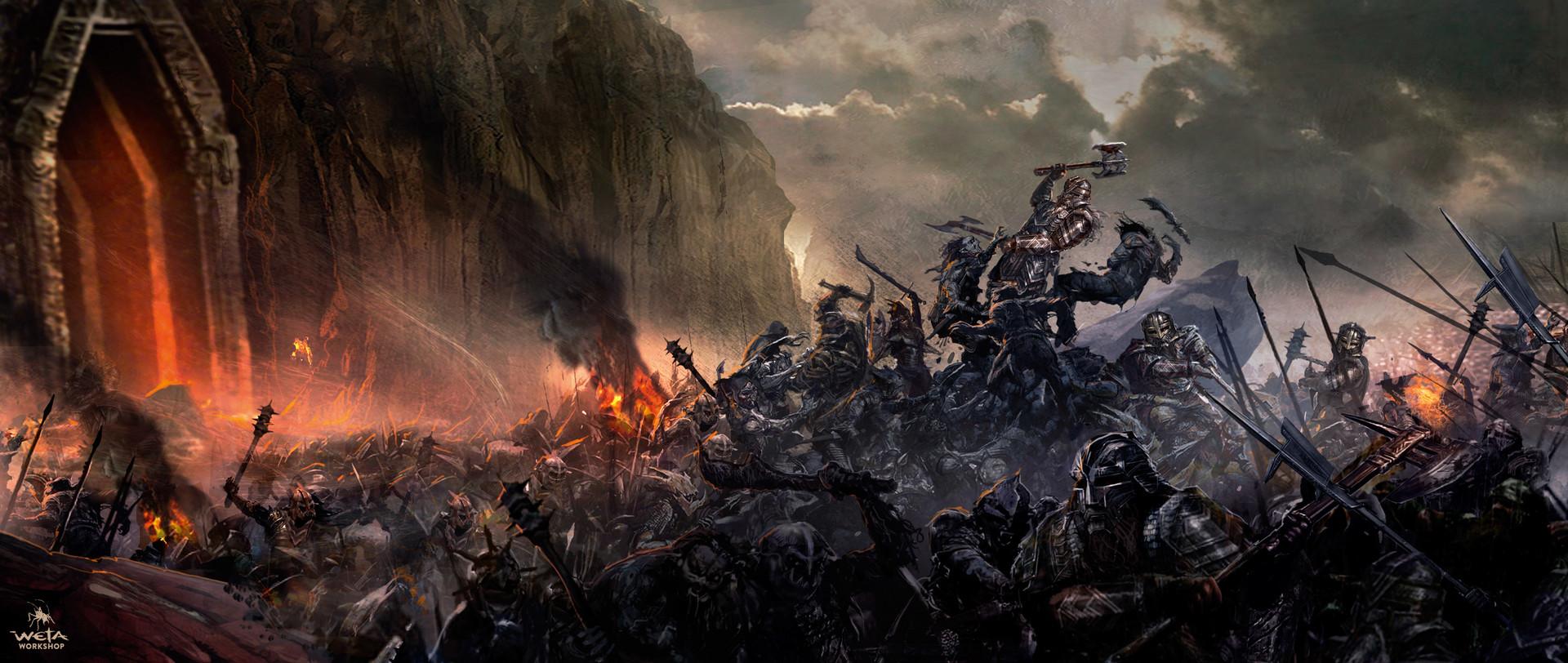 ArtStation - The Hobbit - Moria Battle, WETA WORKSHOP DESIGN STUDIO