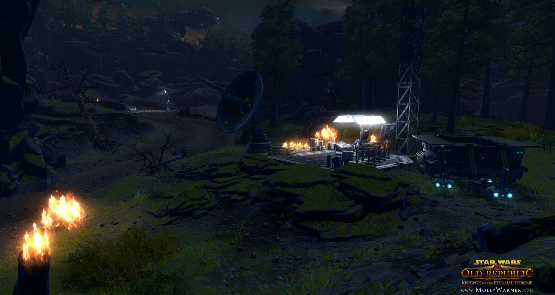 Enemy Zakuul forces starting setup of a temporary base