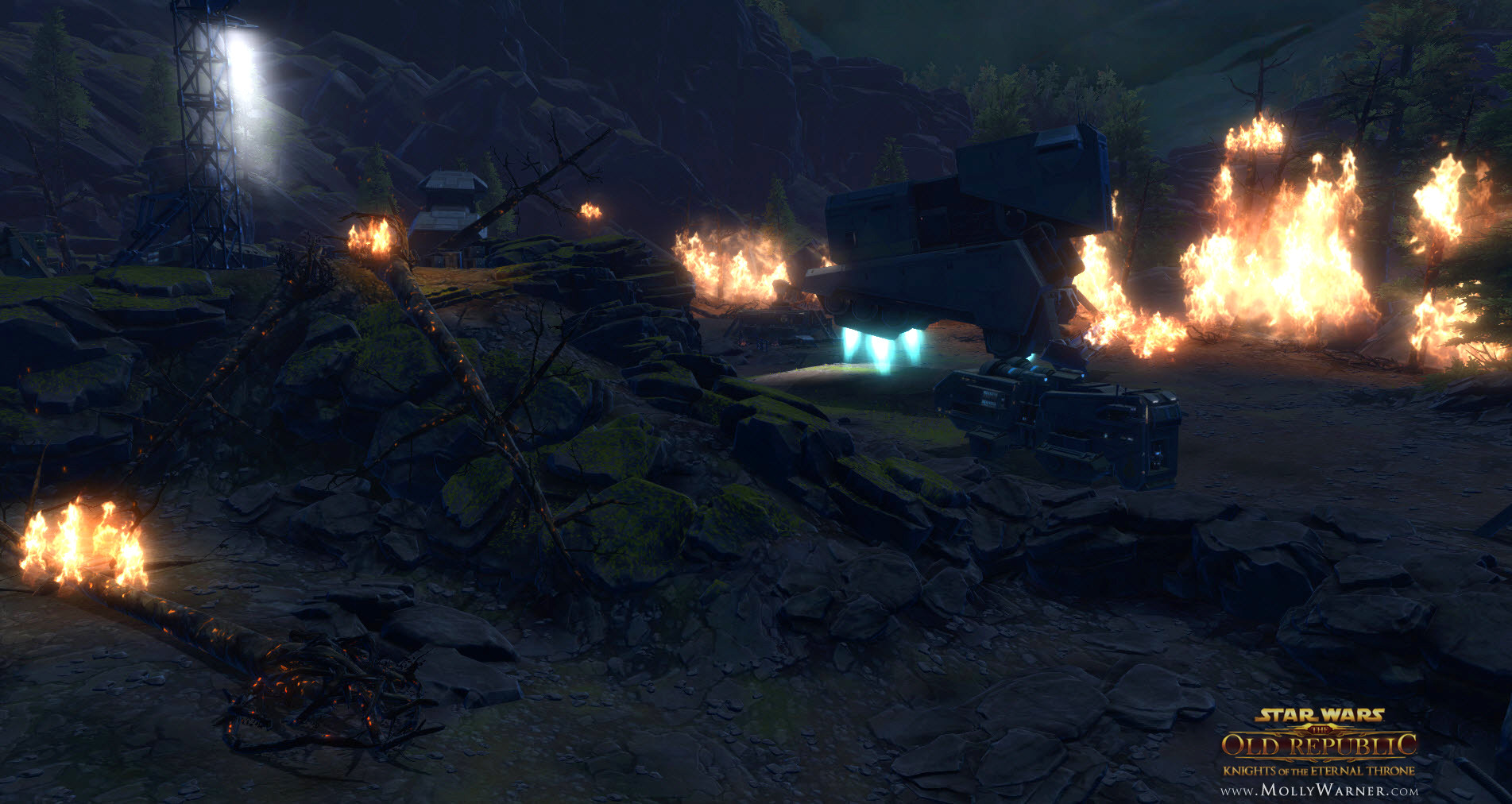Enemy Zakuul forces destroying Odessen forests