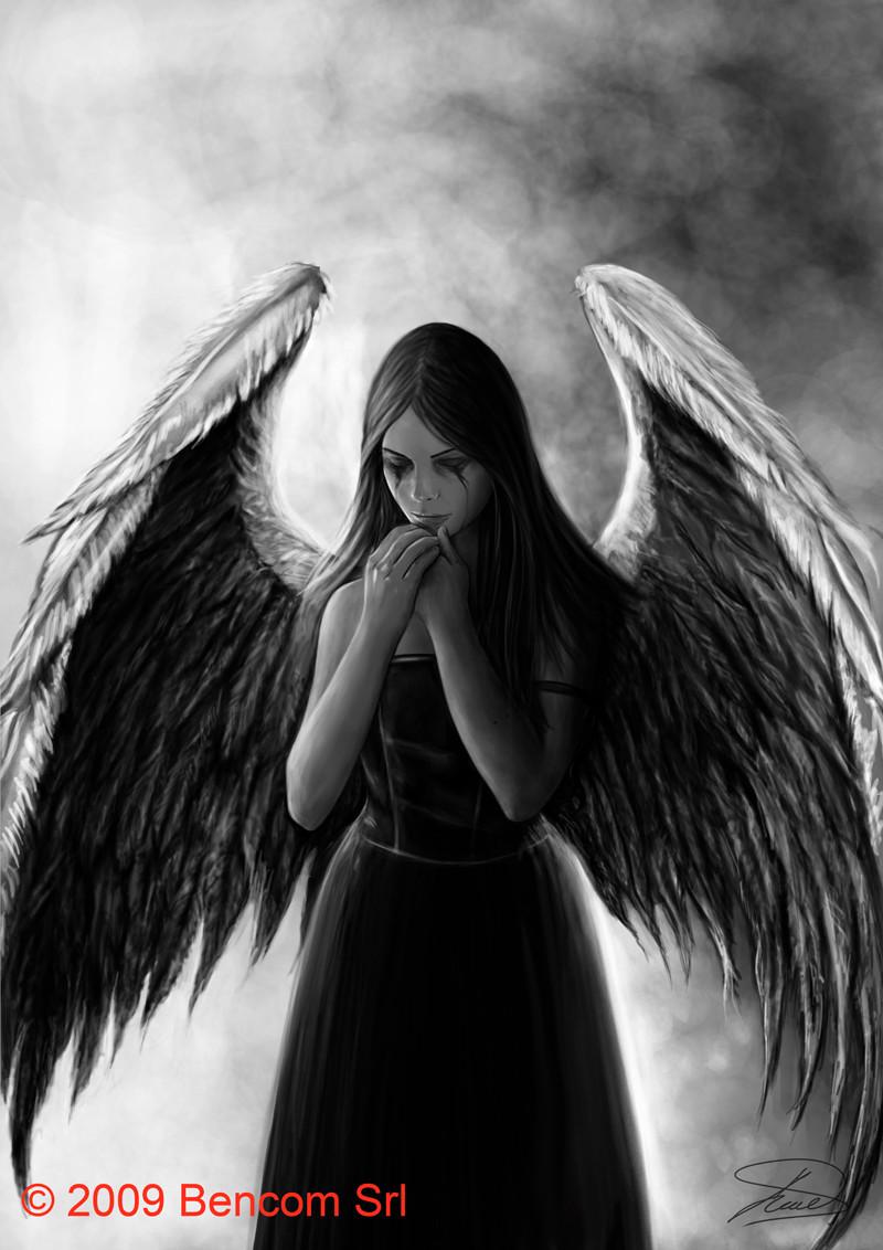 Картинки с черными ангелами