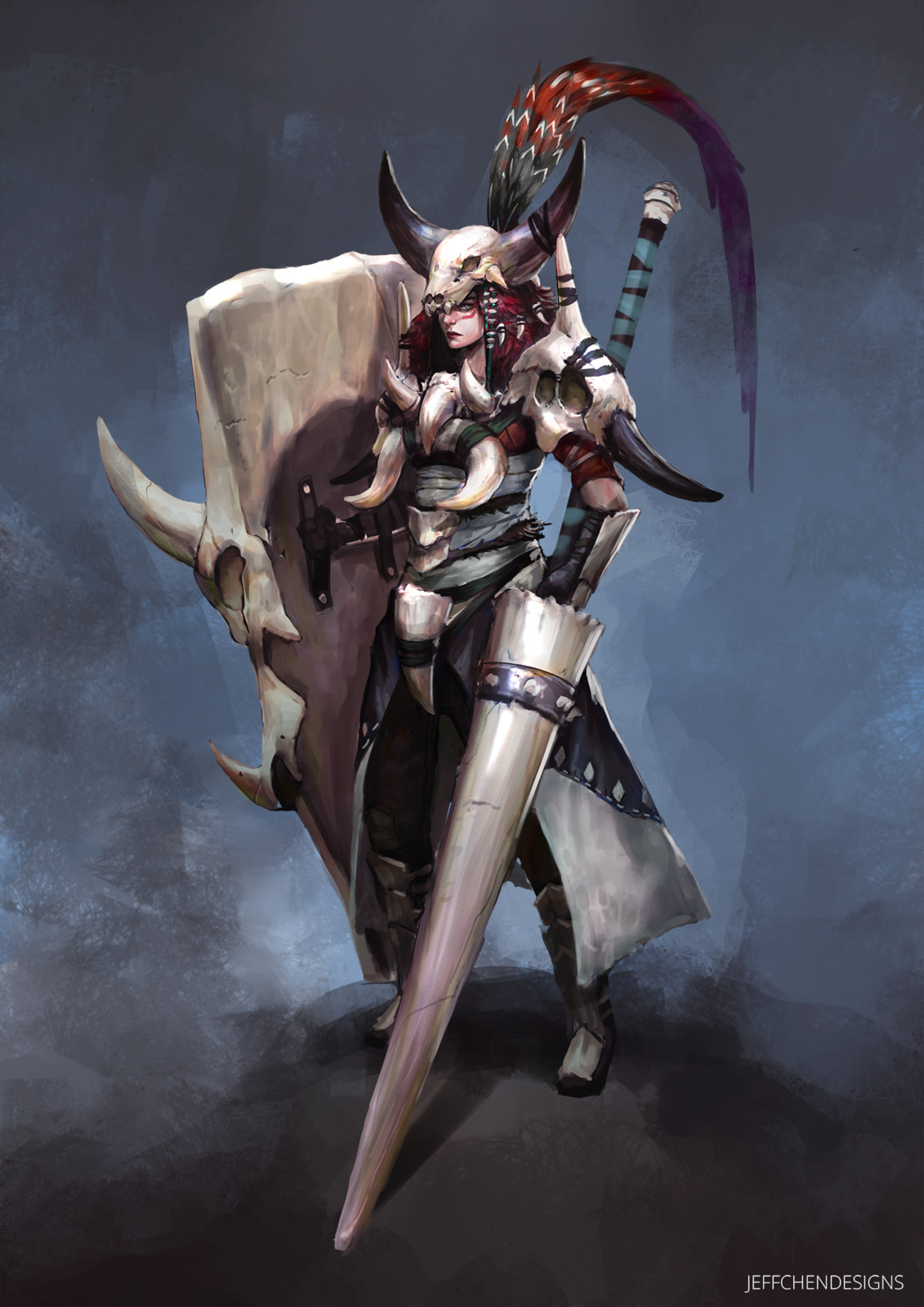 Bone Armor Character Concept