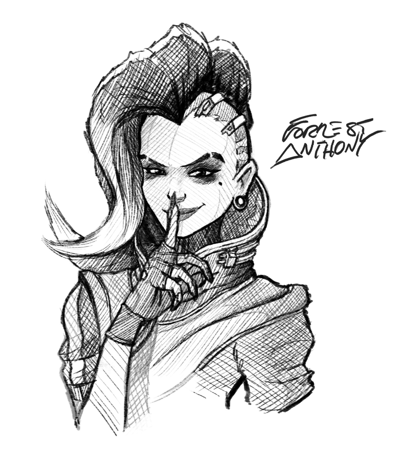 Forrest Anthony - Overwatch Hero sketches