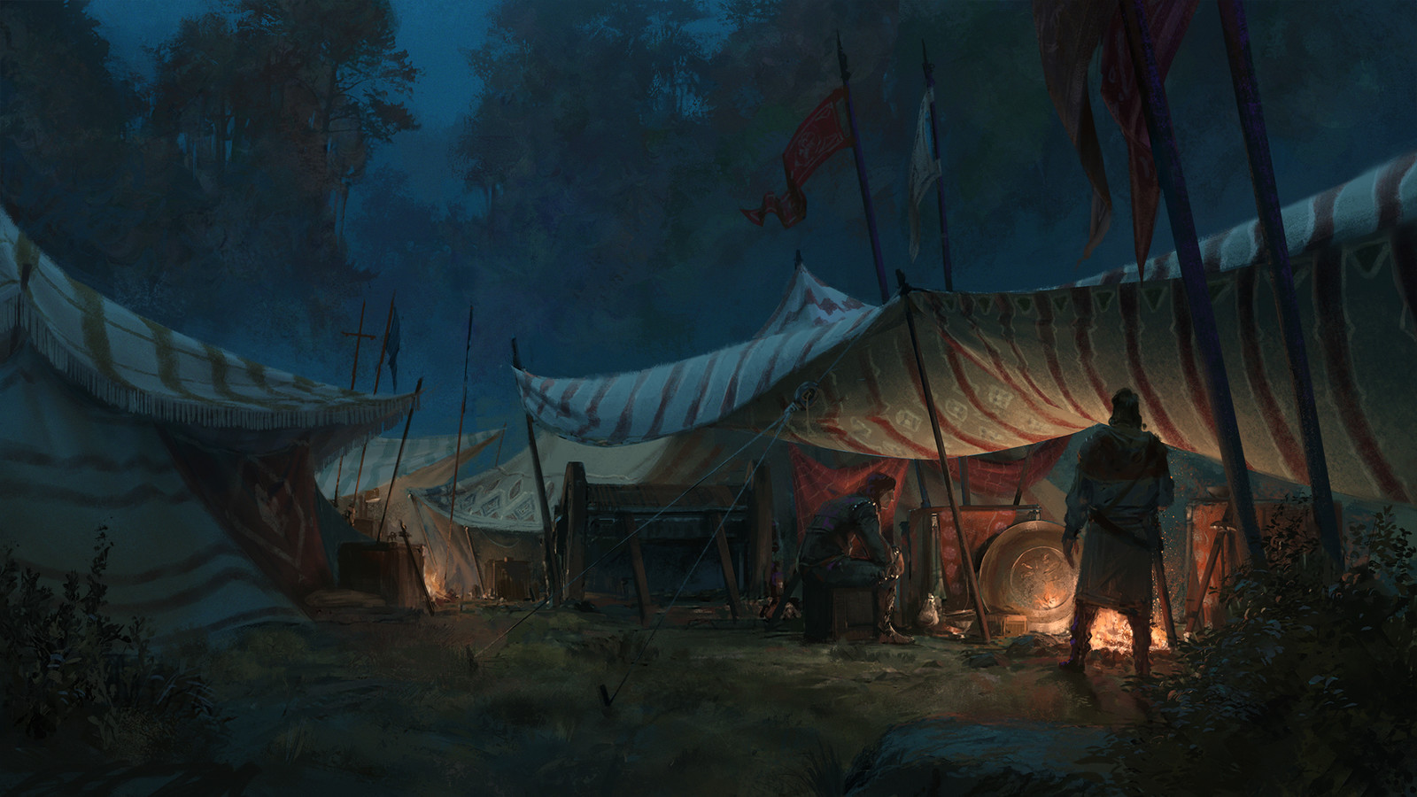 Acaratus - Camp night Backdrop -