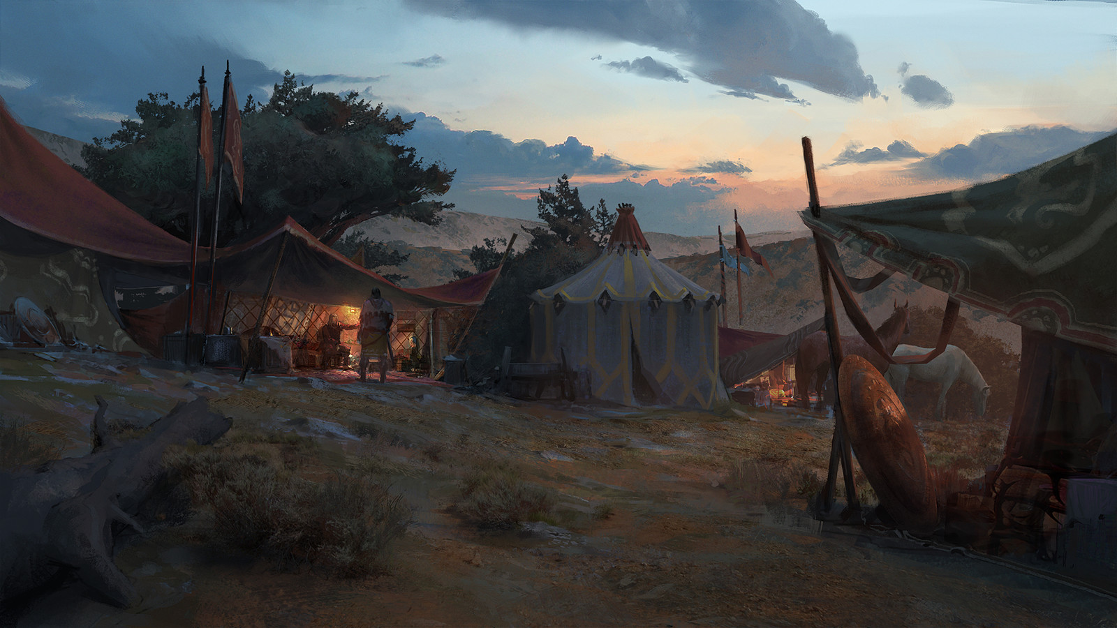 Acaratus - Camp Dusk Backdrop -