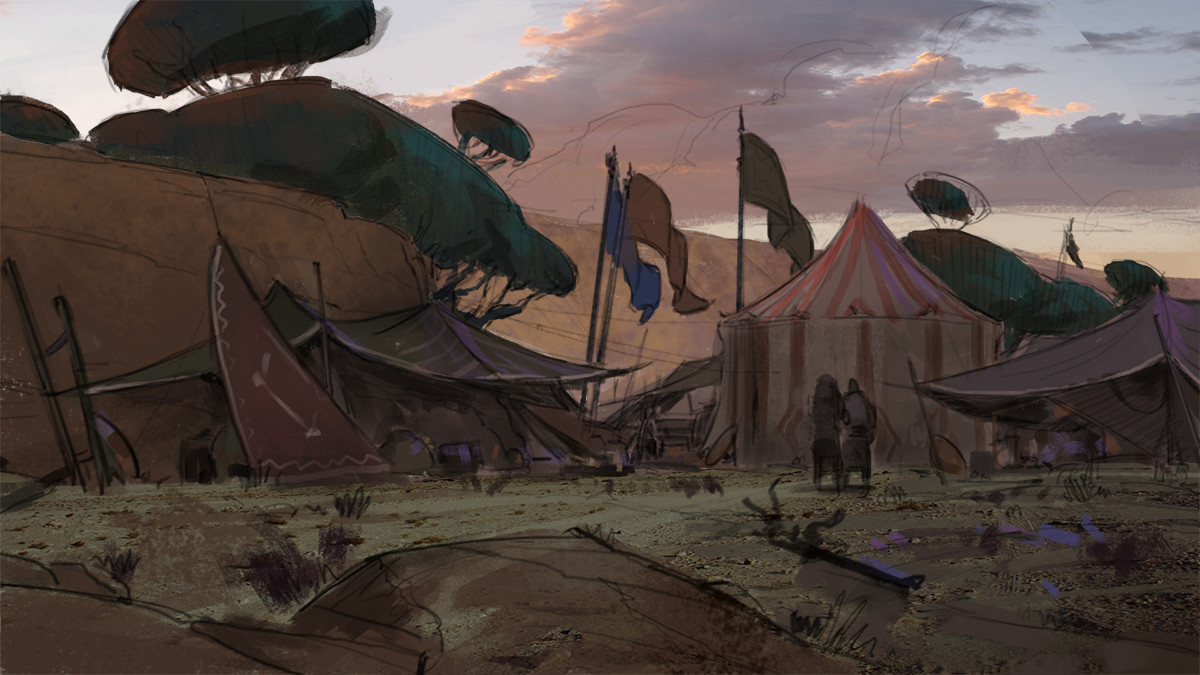Klaus pillon camp dusk savannah sketch 001