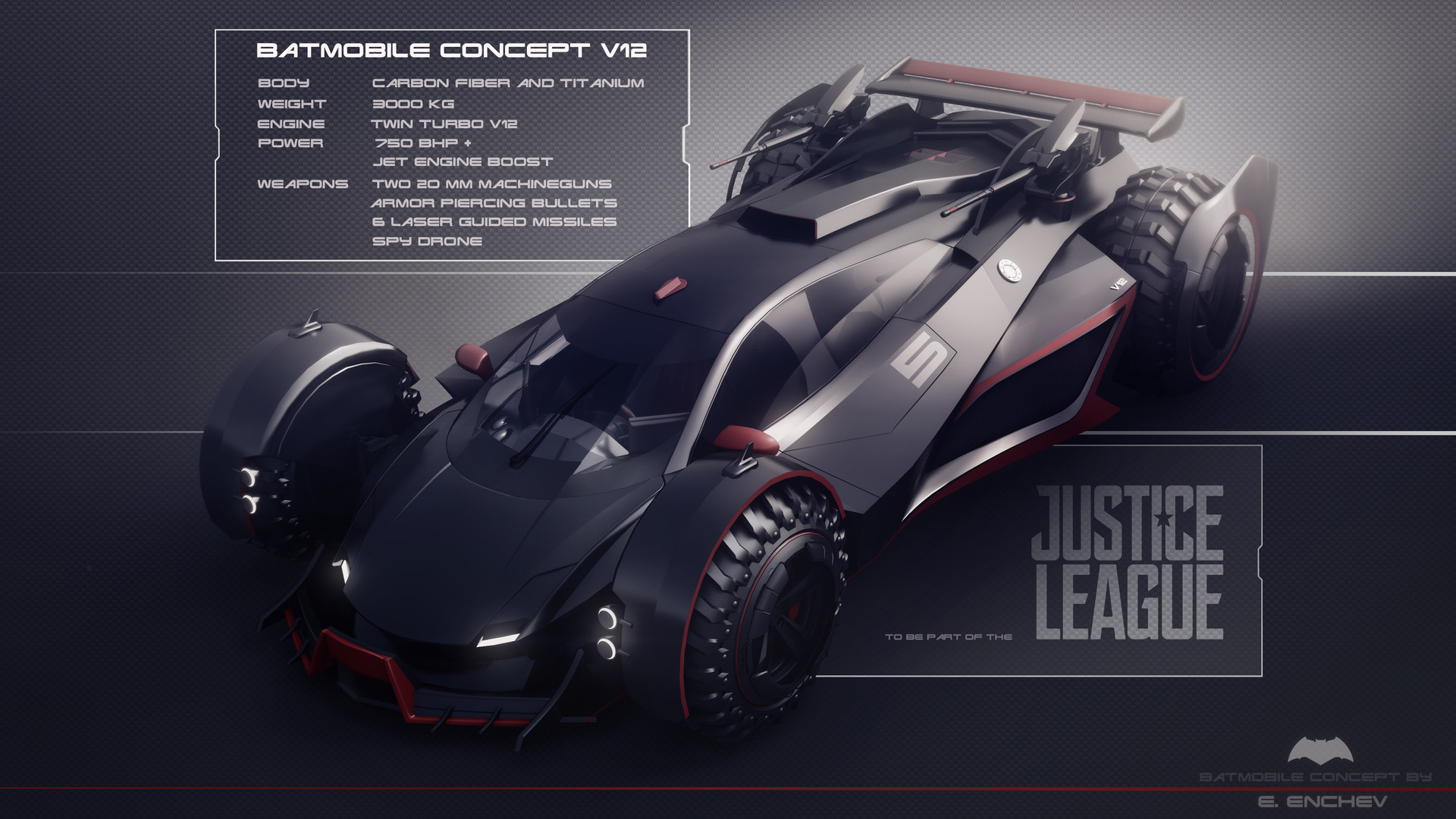Encho Enchev Batmobile Concept V12