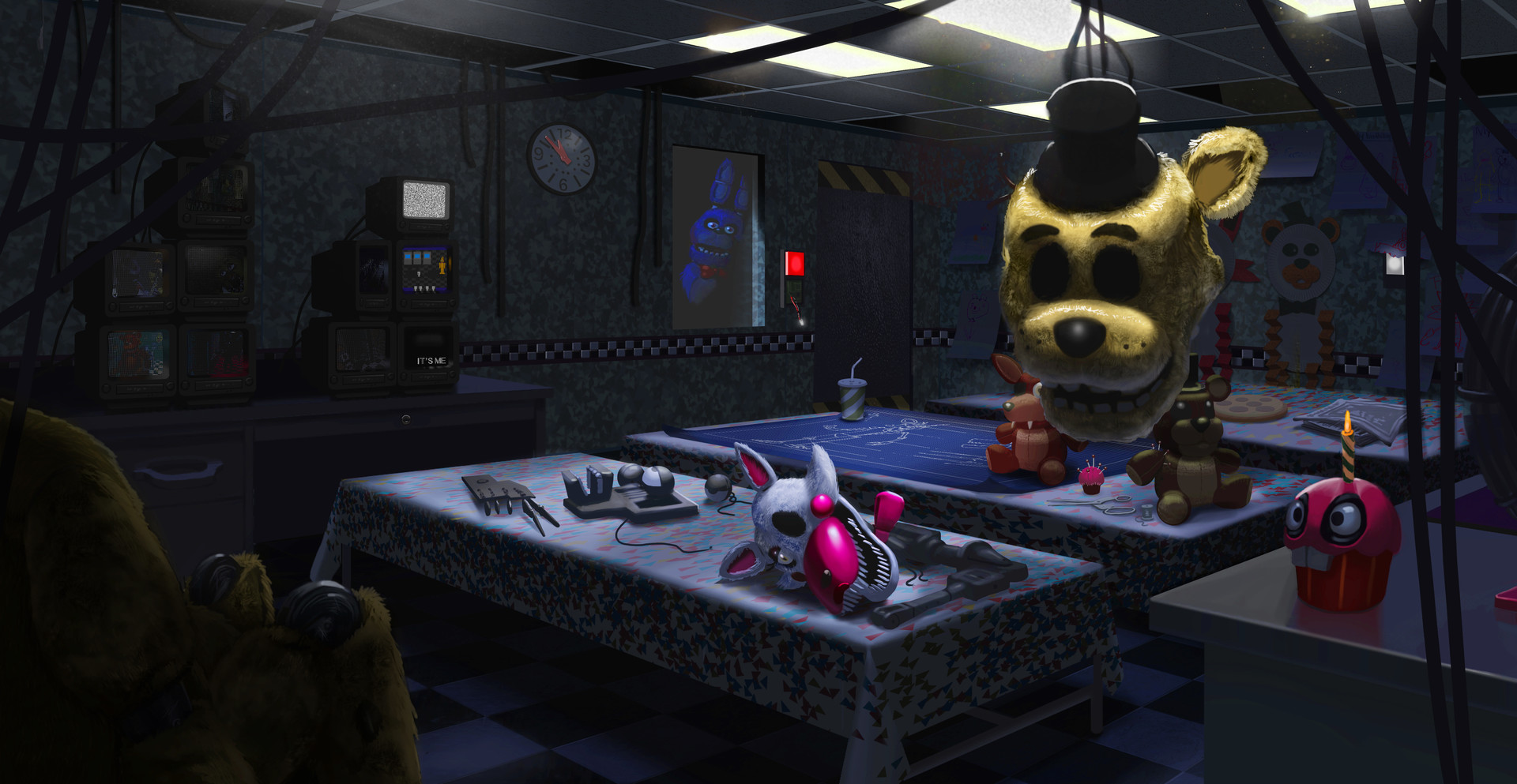 Inkarat mittongtare five nights at freddy 39 s room escape for Escape room concept