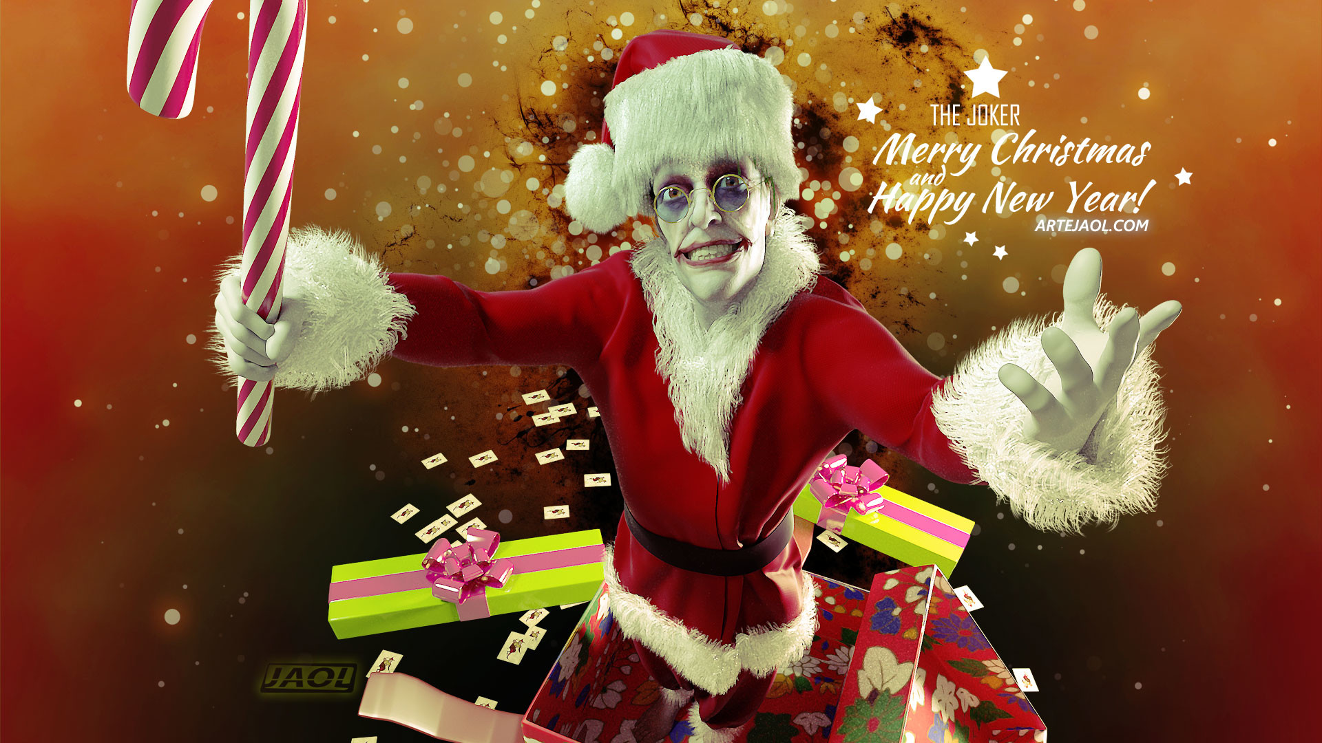 ArtStation - The Joker on Christmas, Jesus Olmos