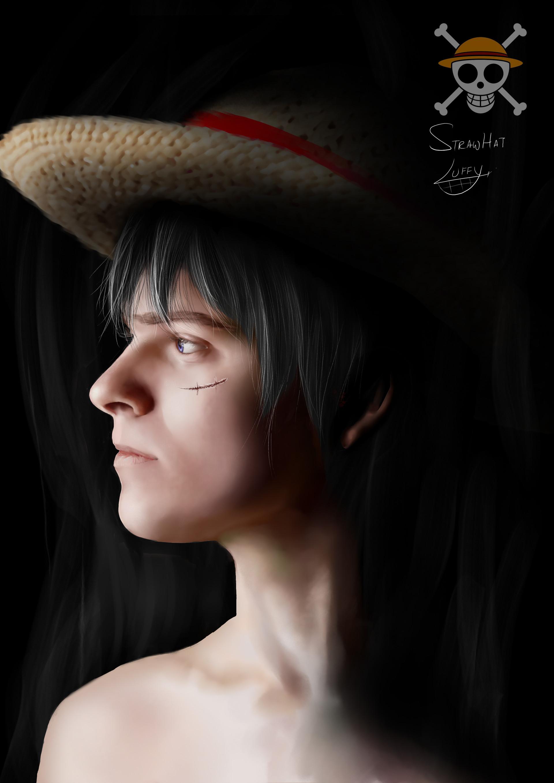 Lr One Piece Portrait Fanart Luffy