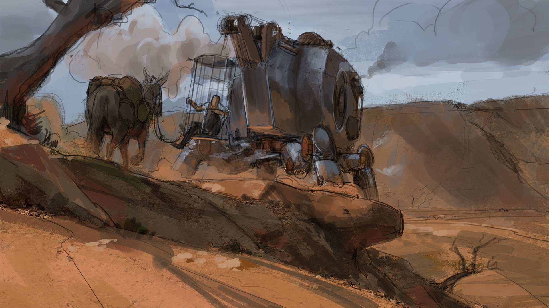 Klaus pillon cage mech imgar sketch 02