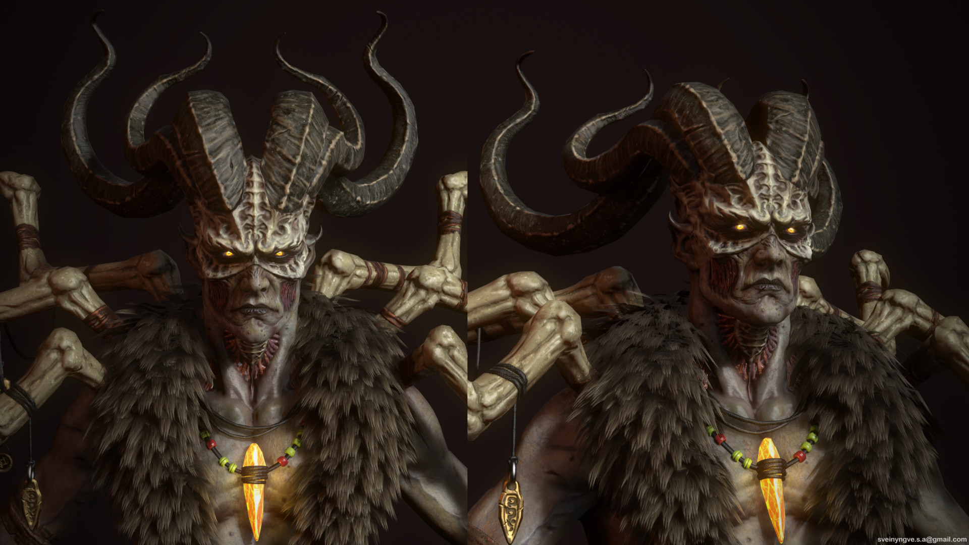 Also, diablo looks like that cause he