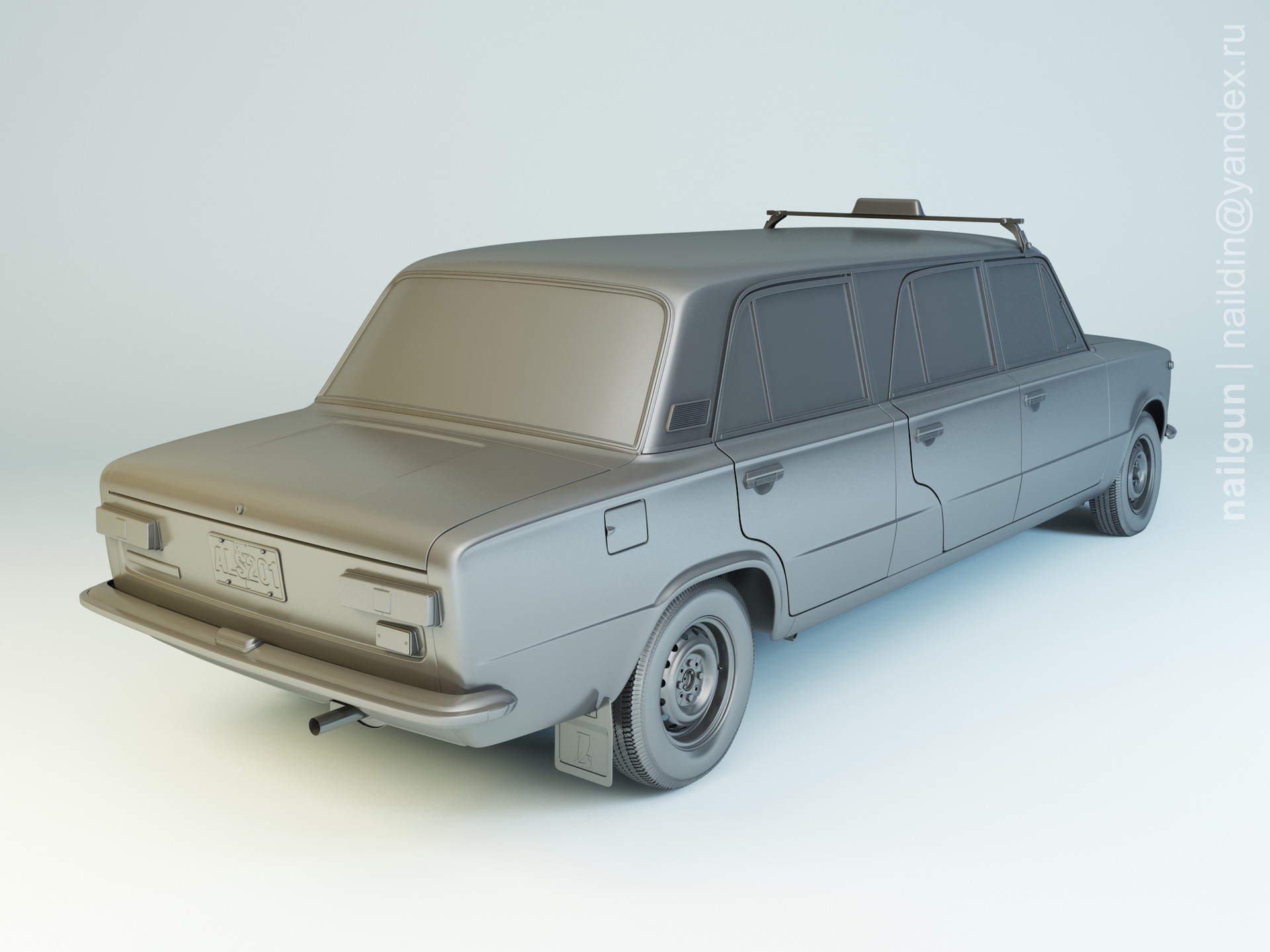 Nail khusnutdinov als 201 001 vaz 21011 limousine modelling 1