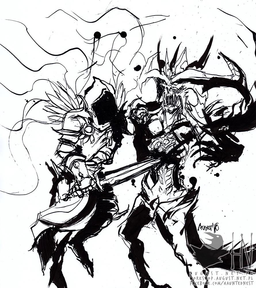 Day 27; Tyrael stabbing Diablo (not like it makes any sense)