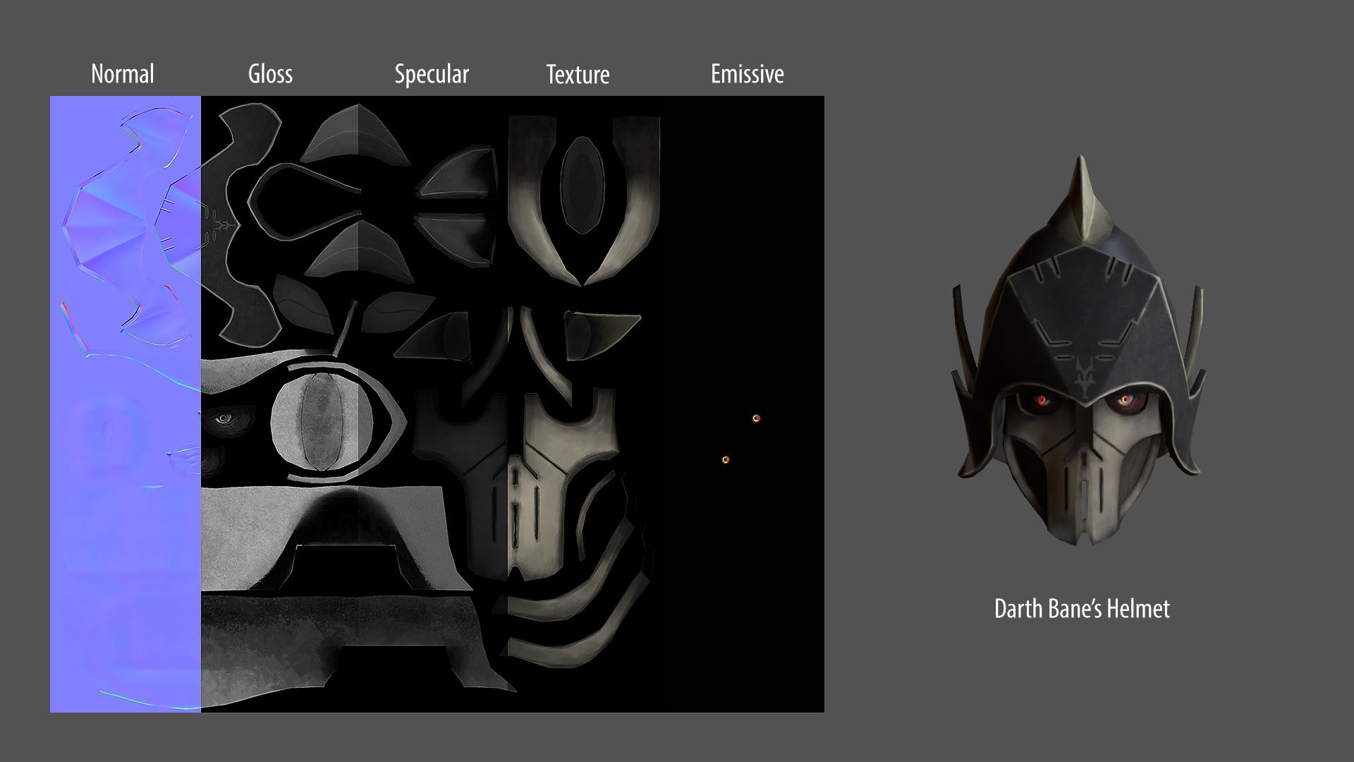 Artstation Darth Banes Helmet Star Wars The Clone Wars