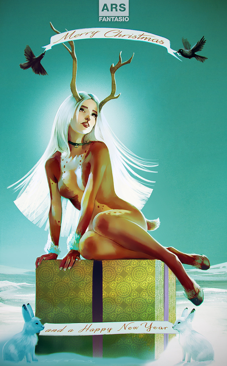 Oliver wetter vintage x mas card faun final small