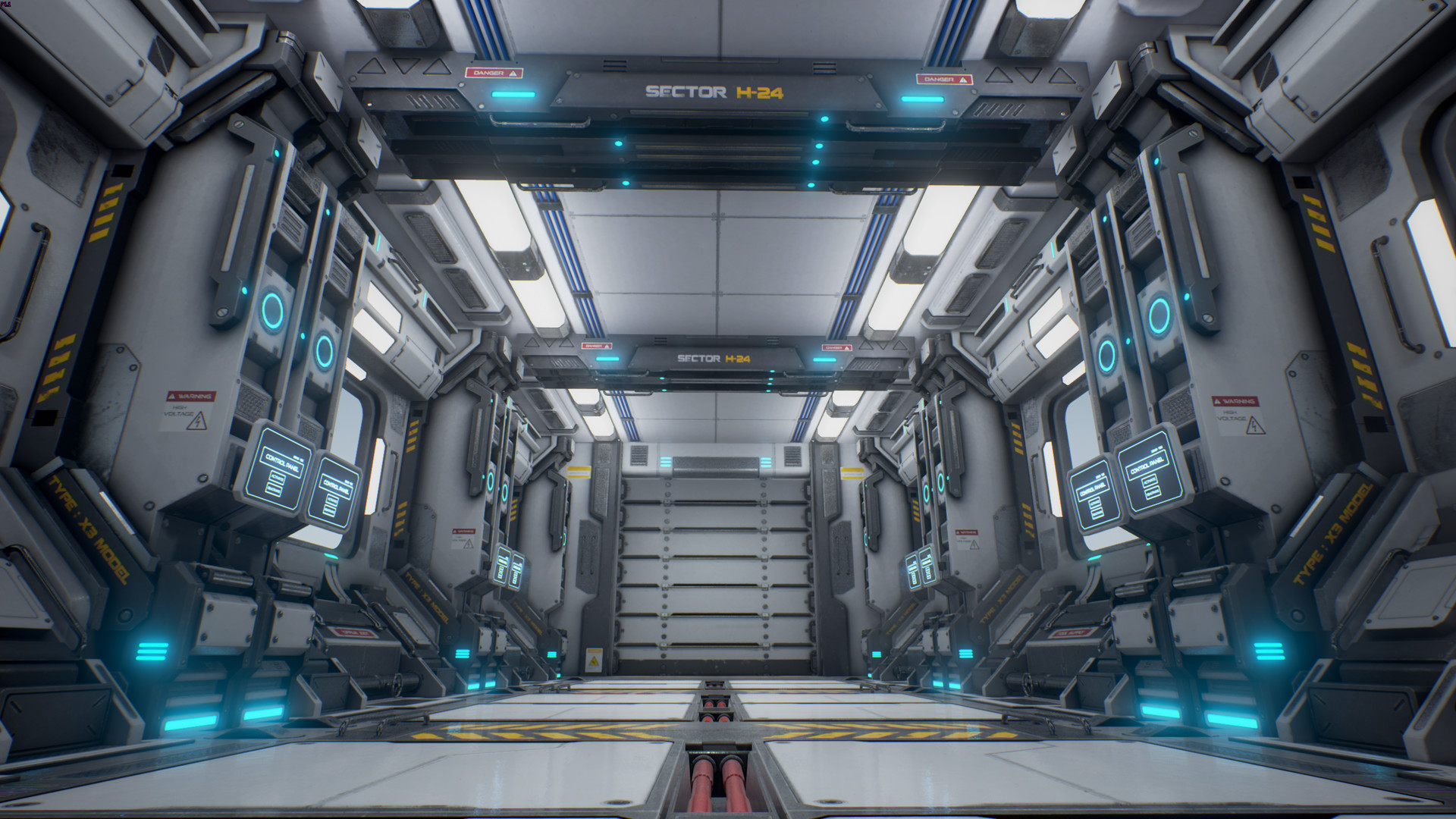 ArtStation - Sci-Fi Corridor Environment - UE4, Joni Niemi