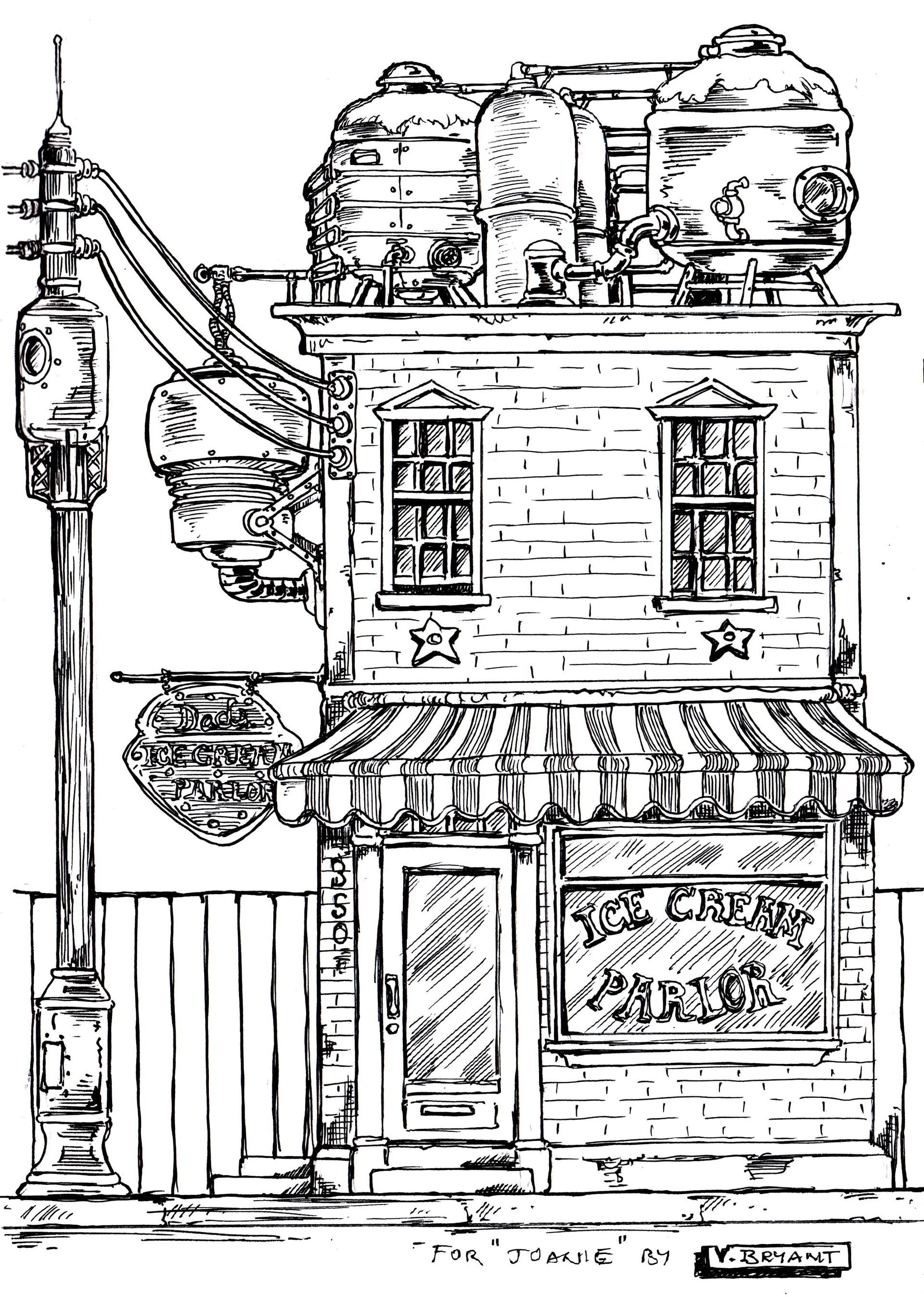 Vincent bryant 26 steampunk ice cream parlor