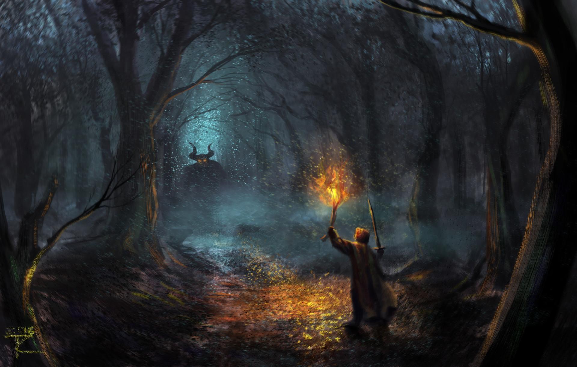 Artstation Dark Woods Tot Chehovich