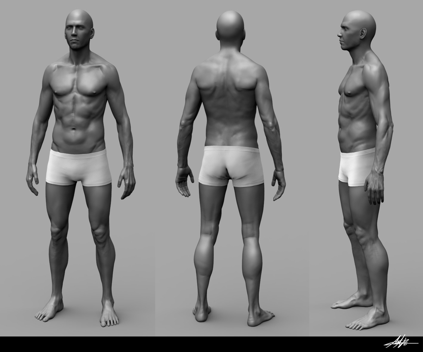 ArtStation - Male Anatomy, Miguel Angel Pescador