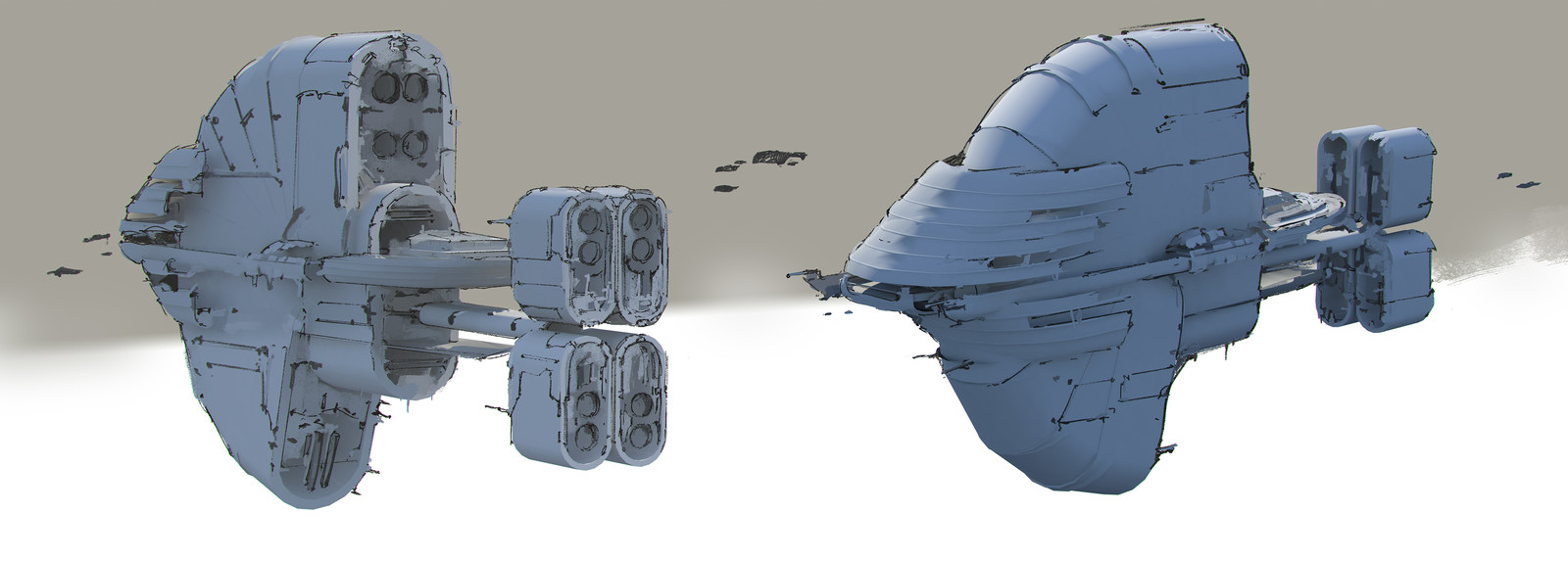 The Job Spaceships sketches