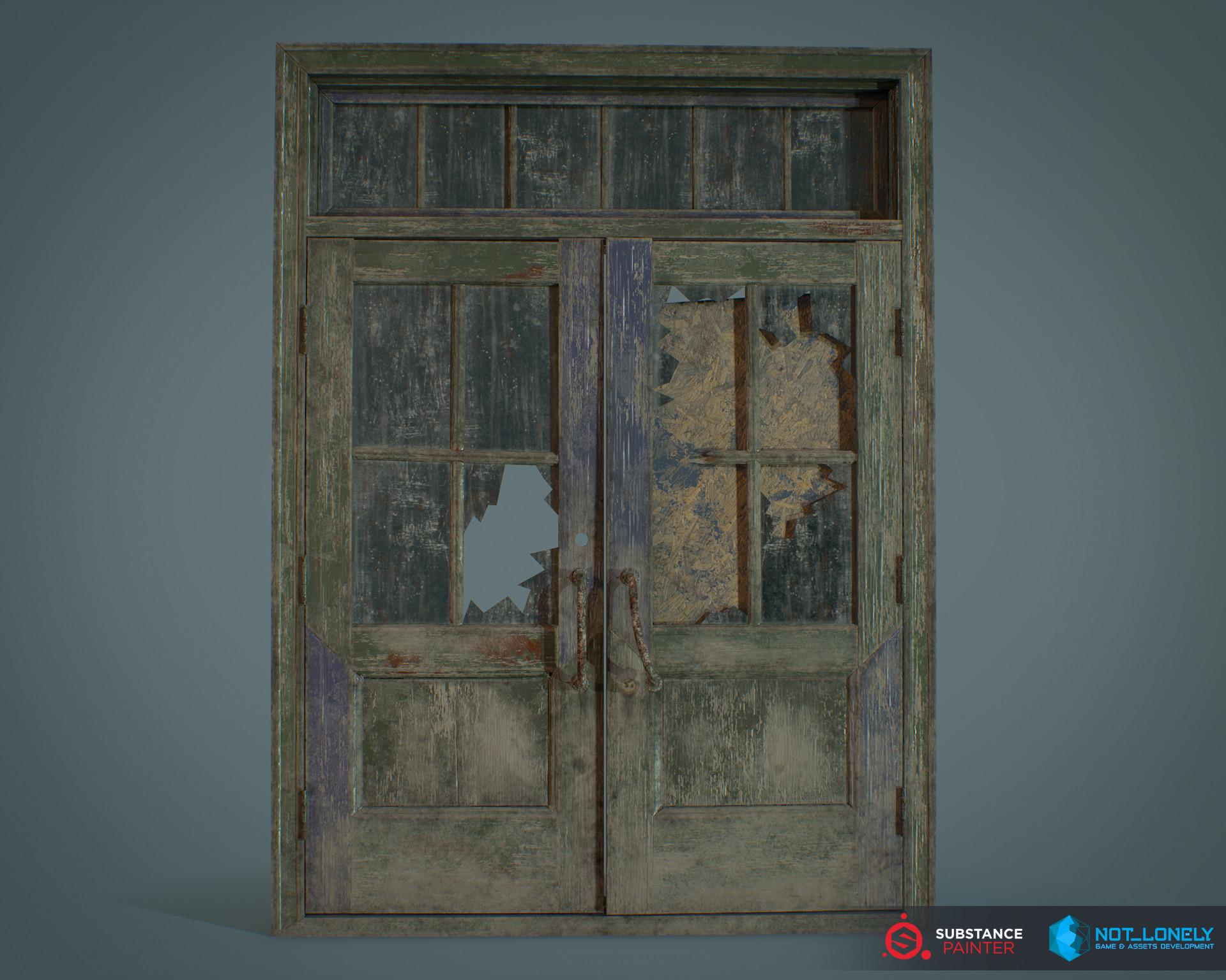 Old Damaged Door & ArtStation - Damaged Door Vitaly Okulov