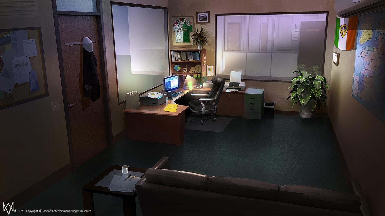 Artstation watchdogs 2 concept art leo lee for Living office concept