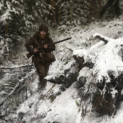 Jakub rozalski wolfpack 1863 hunt or be hunteds