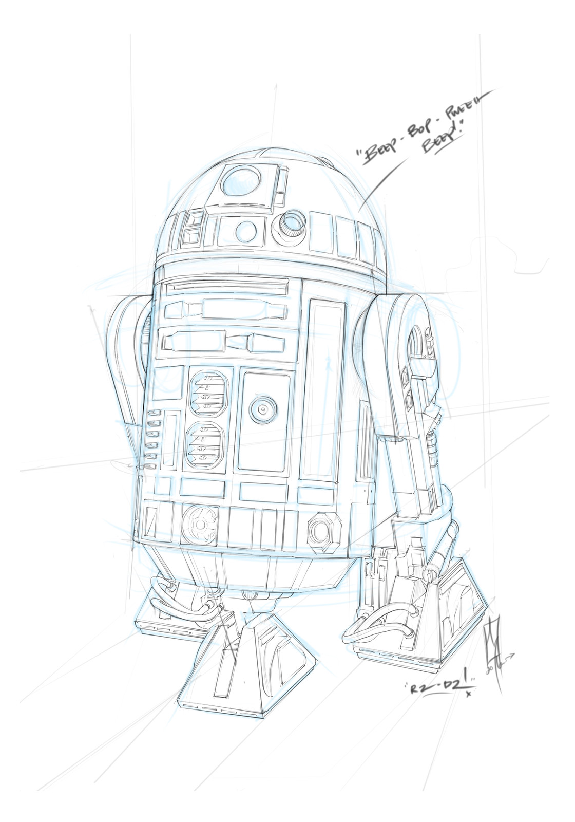 Sketch/Drawing of R2D2!
