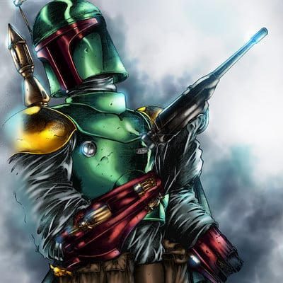 Maksim strelkov bobba fett by harveytsketchbook5