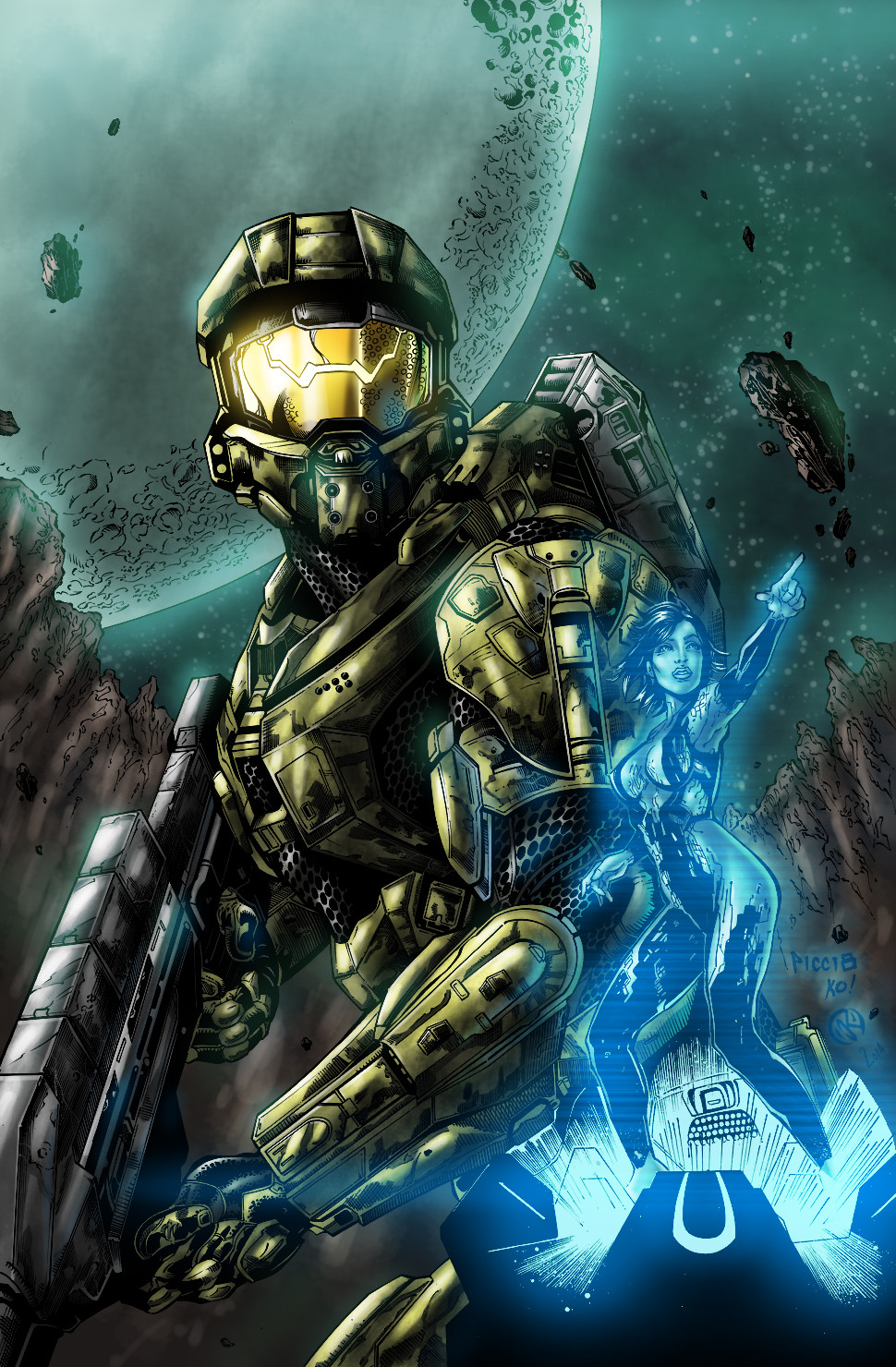 Maksim strelkov master chief and cortana5
