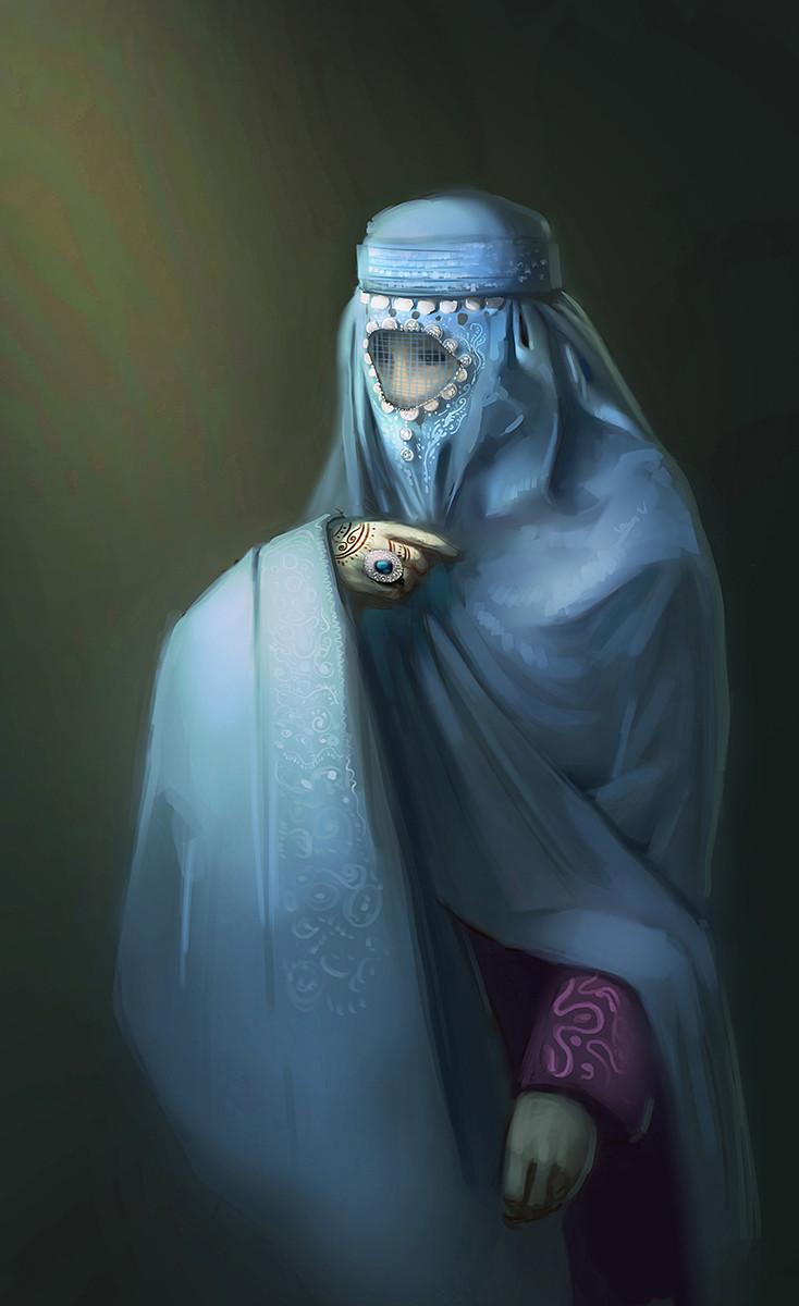 Yeve drovossekova woman burka2