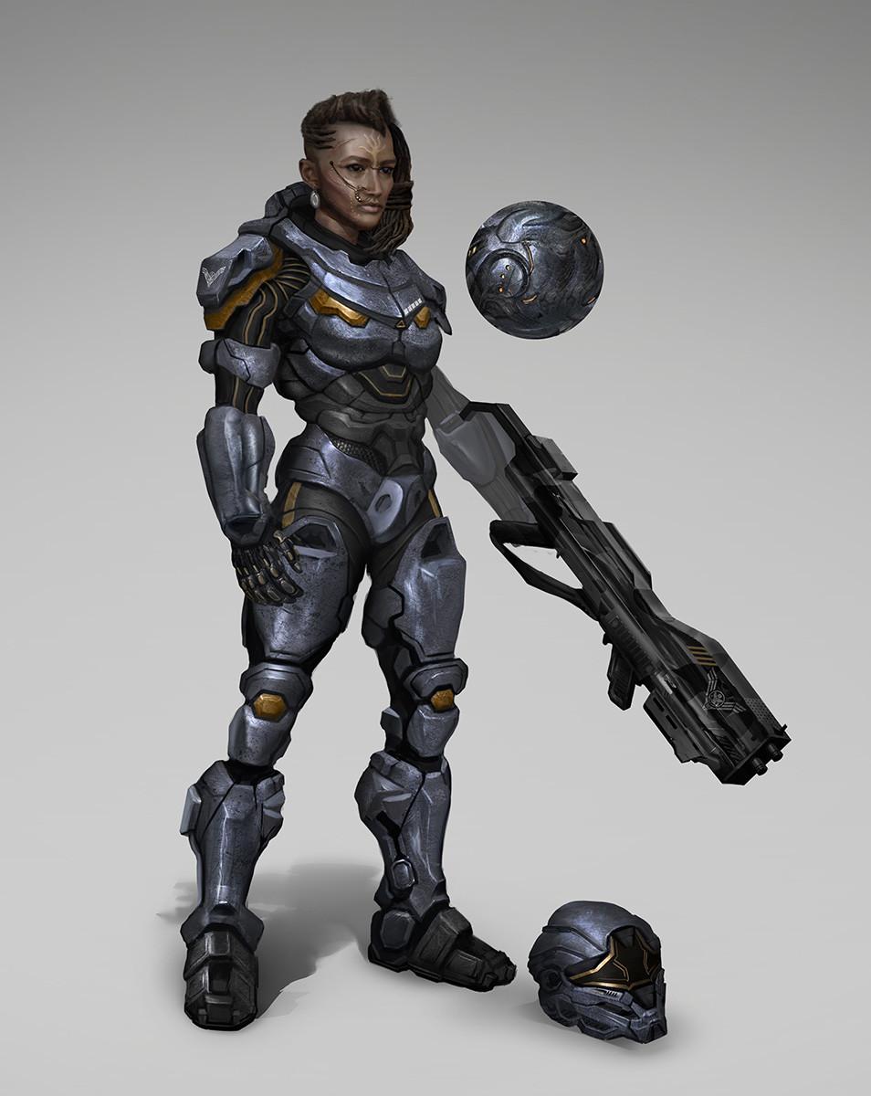 Concept Art Female Sci Fi Characters