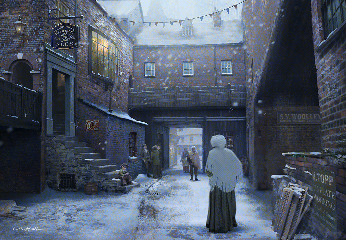 Andy walsh victorian alley winter 1150px by andy walsh c