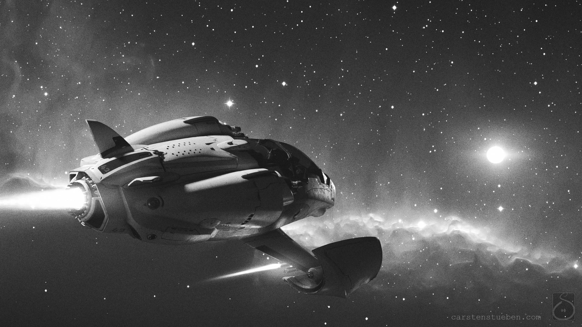 Carsten stueben thrust mantis42 deepspace 01 bw
