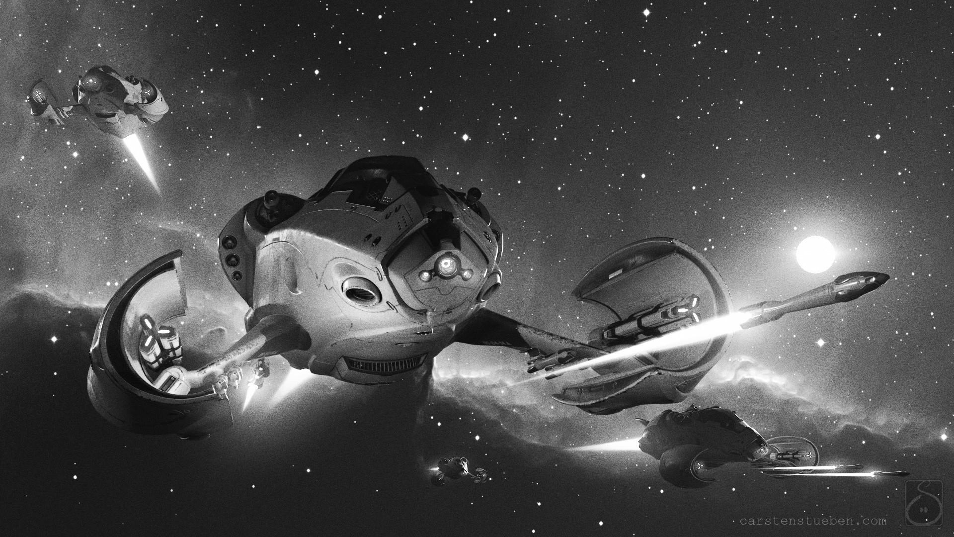 Carsten stueben thrust mantis42 deepspace 02 bw