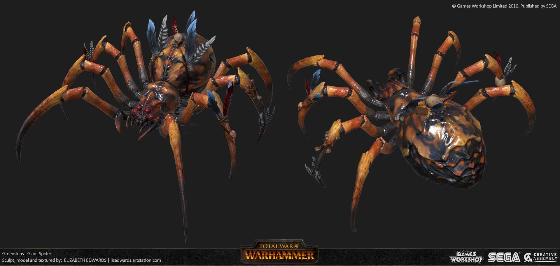 Liz edwards liz edwards lize grn giant spider