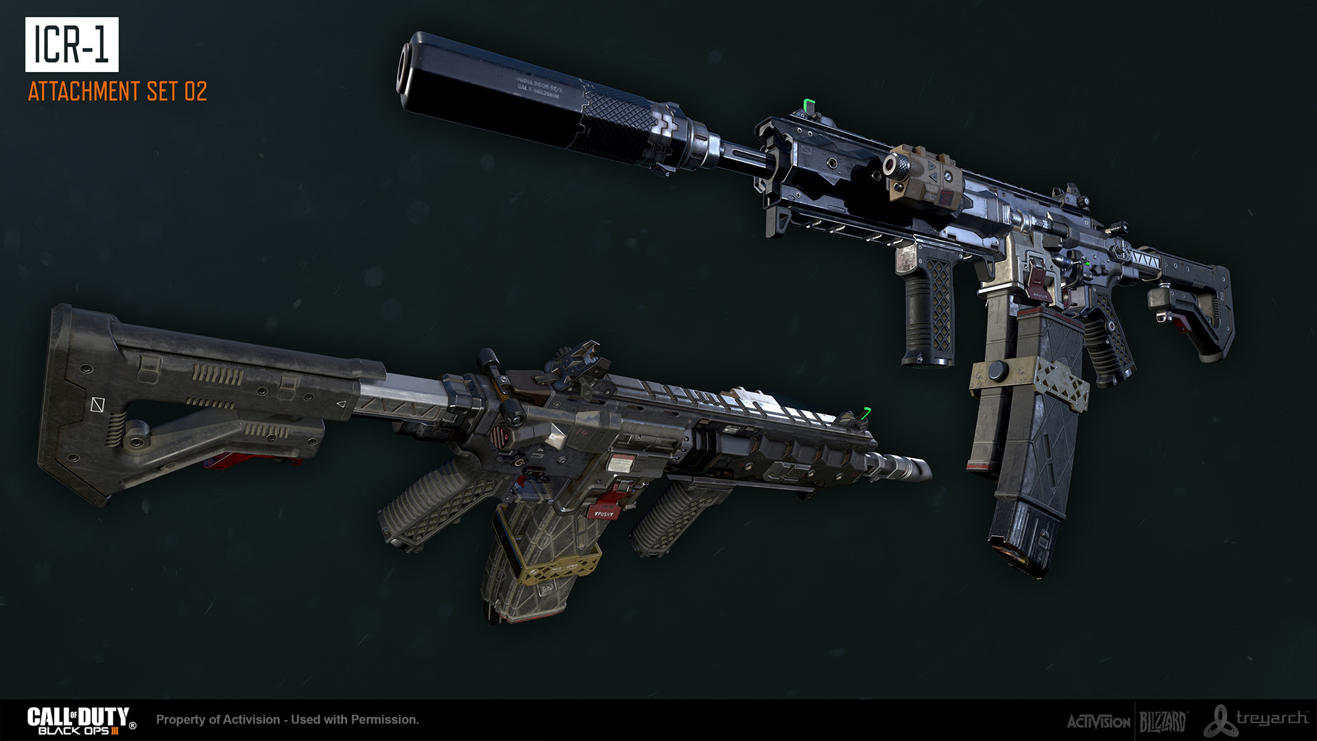 ArtStation - Black Ops 3: ICR-1 Assault Rifle, Ethan Hiley