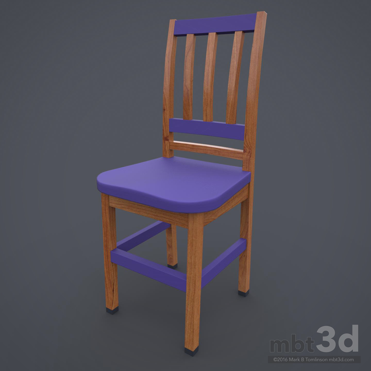 Wooden Chair Purple