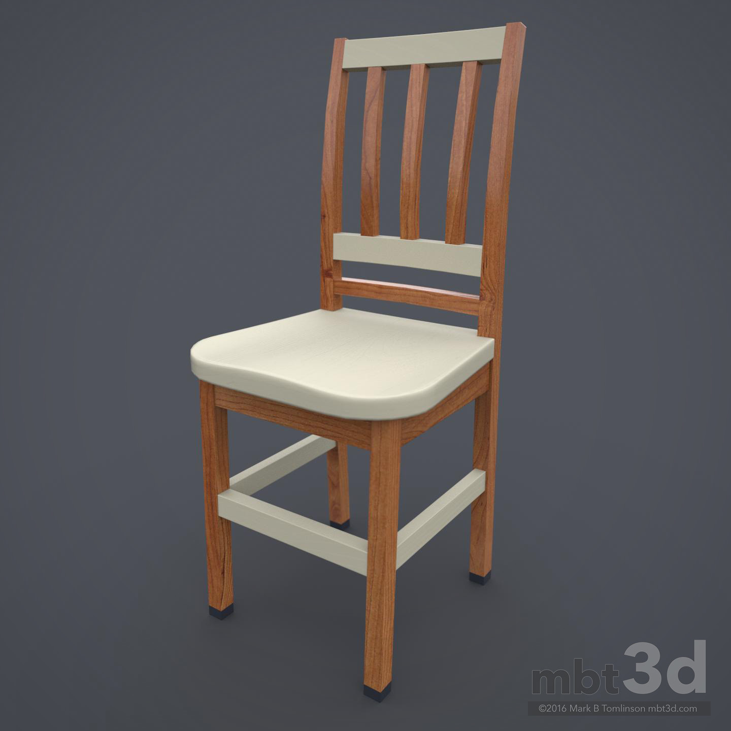 Wooden Chair Cream