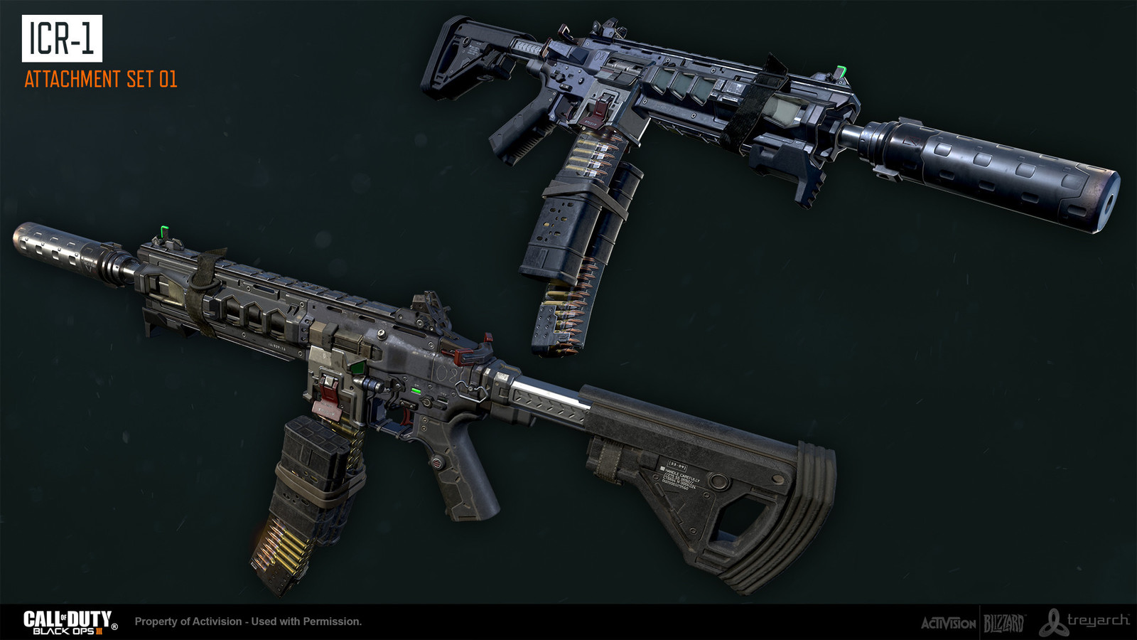 Additional attachment modeling support by Derek Larson. Base gun and textures by Ethan Hiley
