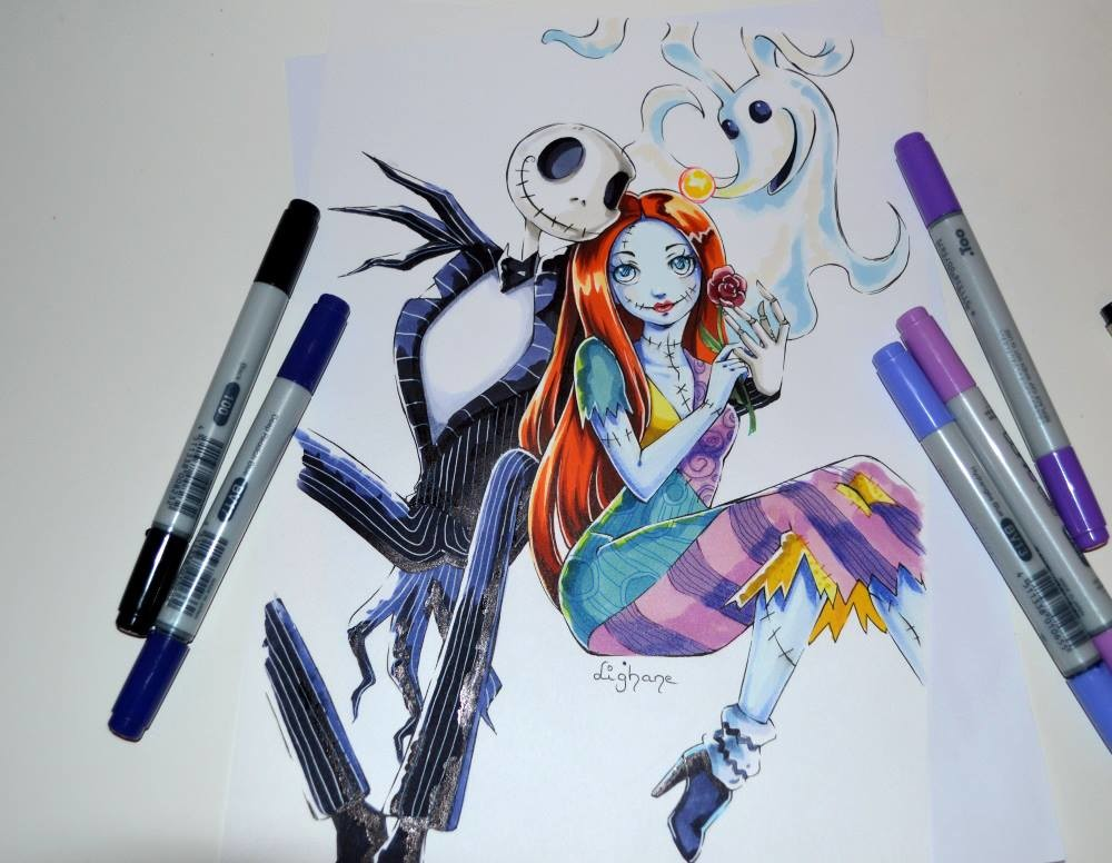 ArtStation - Jack, Sally & Zero / Nightmare Before Christmas / Copic ...