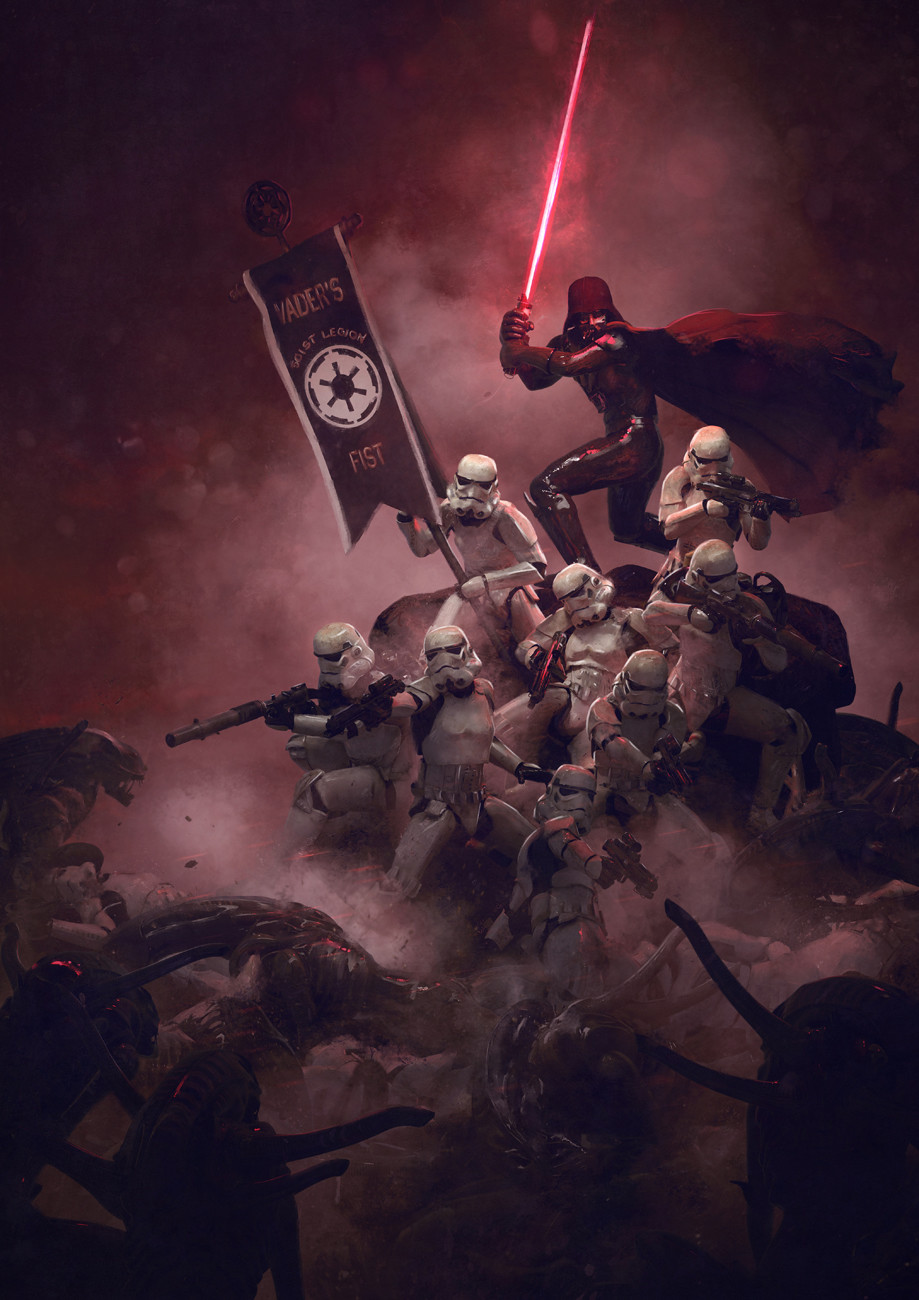 Guillem h pongiluppi 501 st legion vader s fist vs space cockroaches 8 guillemhp