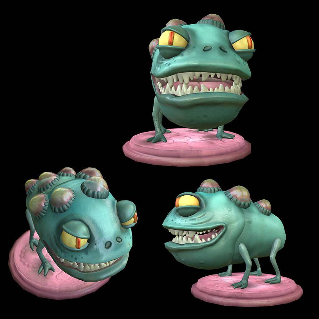 Danny aguilar frog model painted
