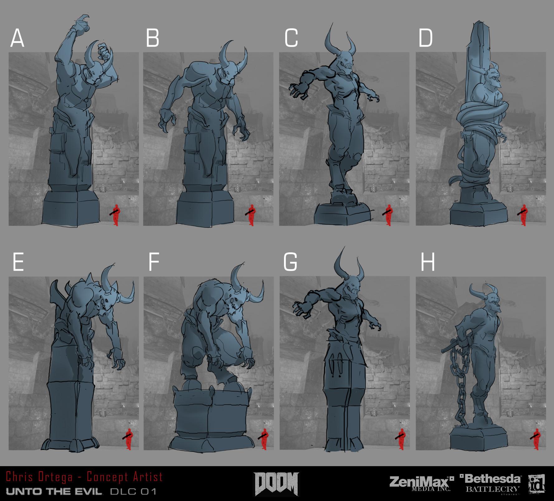 Chris ortega demon statue1