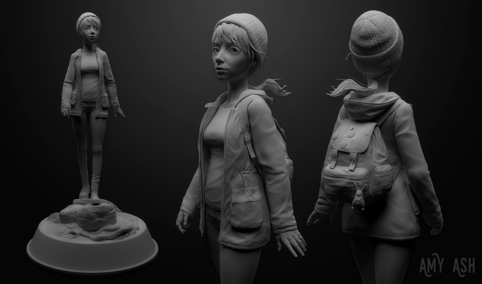 Hiker character concept sculpt