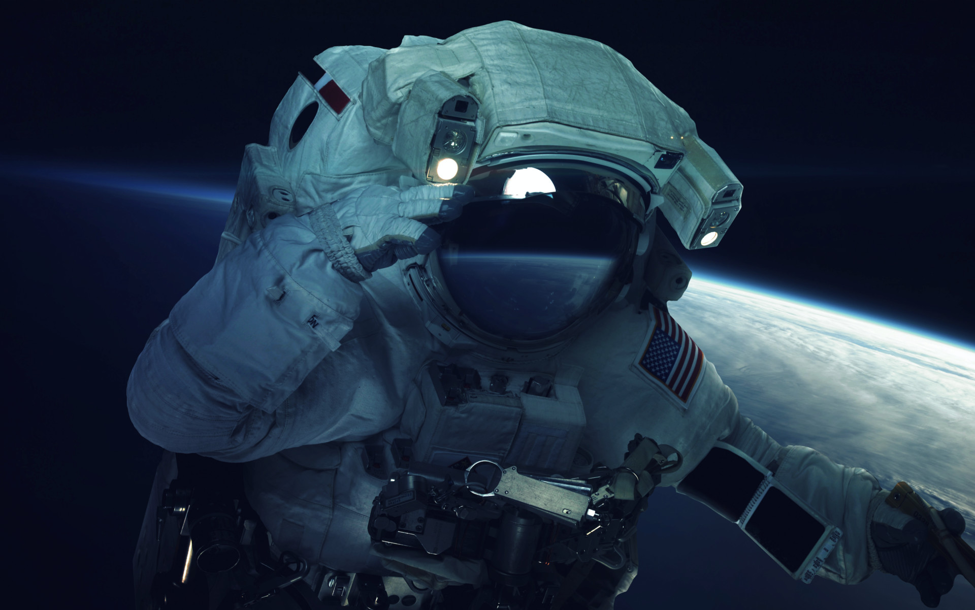 astronaut spacewalk for android - HD1920×1201