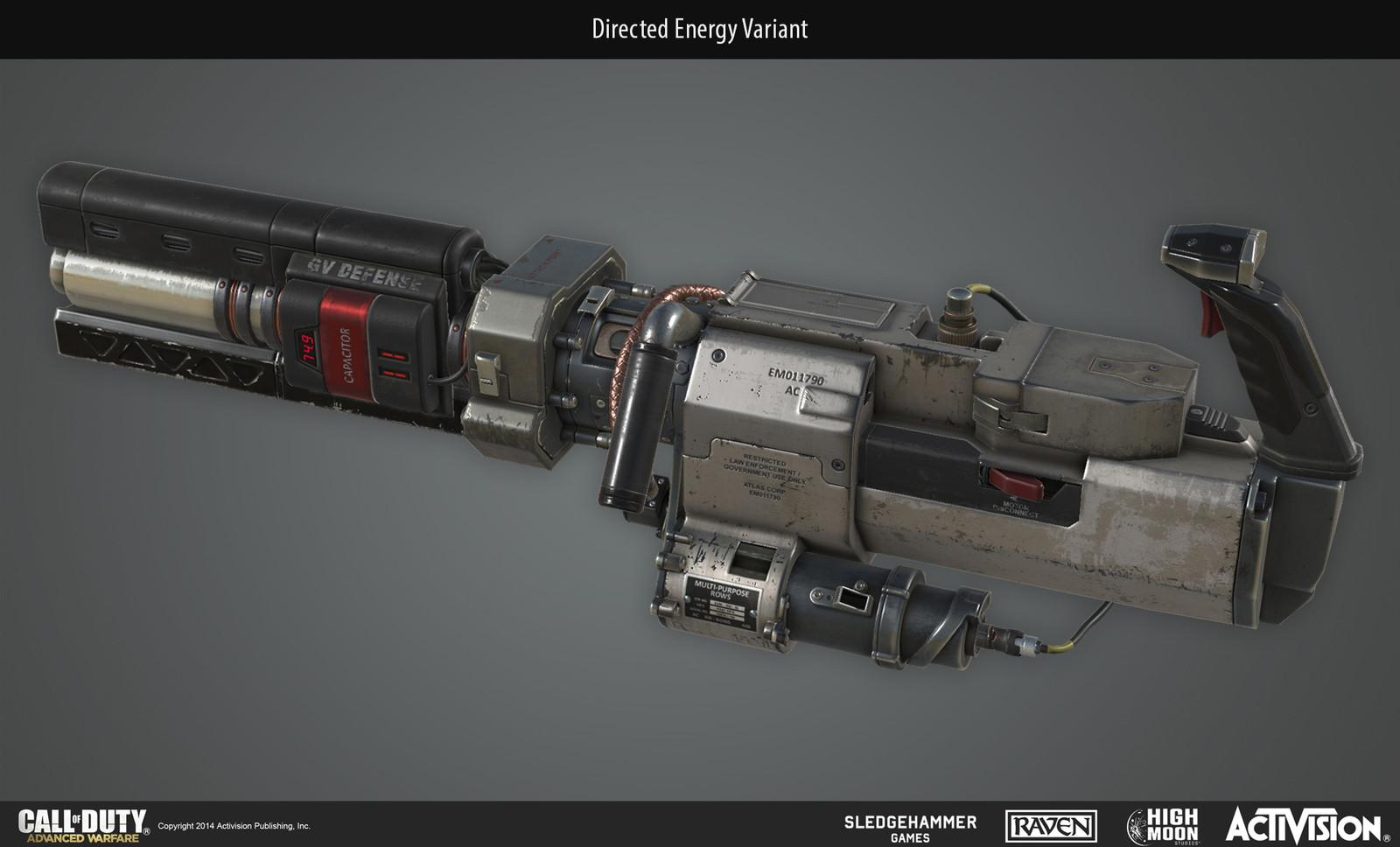 First person sentry scorestreak directed energy variant.
