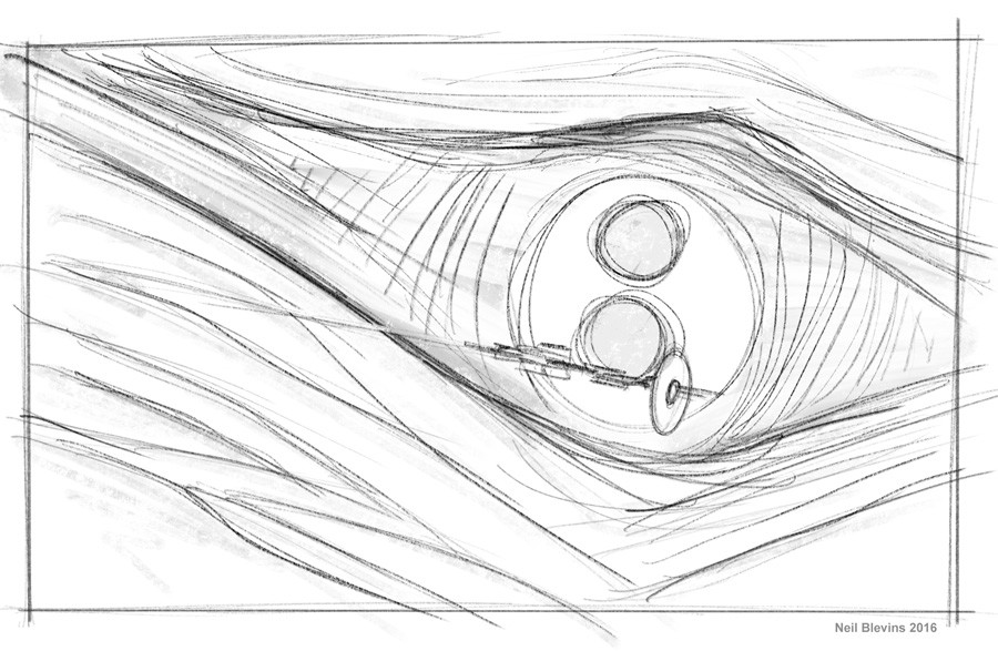Neil blevins xeelee sequence timelike infinity the eye of the spline 1 line sketch