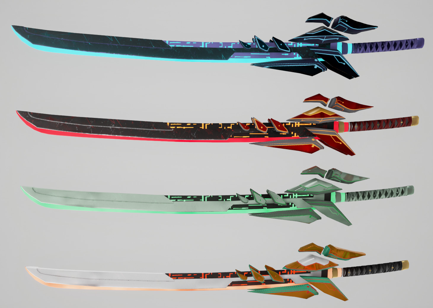 Artstation Sci Fi Swords Austin Mraz