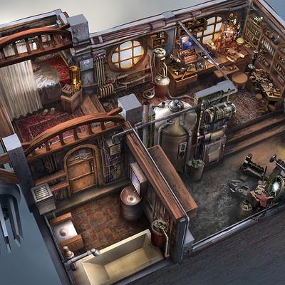 Ferdinand ladera steampunk interior